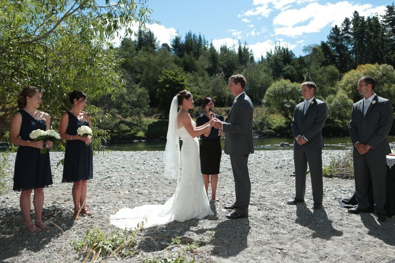 Hamish and Tania's wedding by the river near Motueka