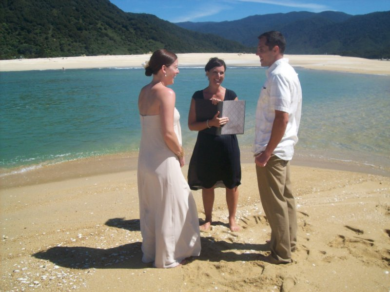 Wedding at Awaroa Beach, Abel Tasman National Park