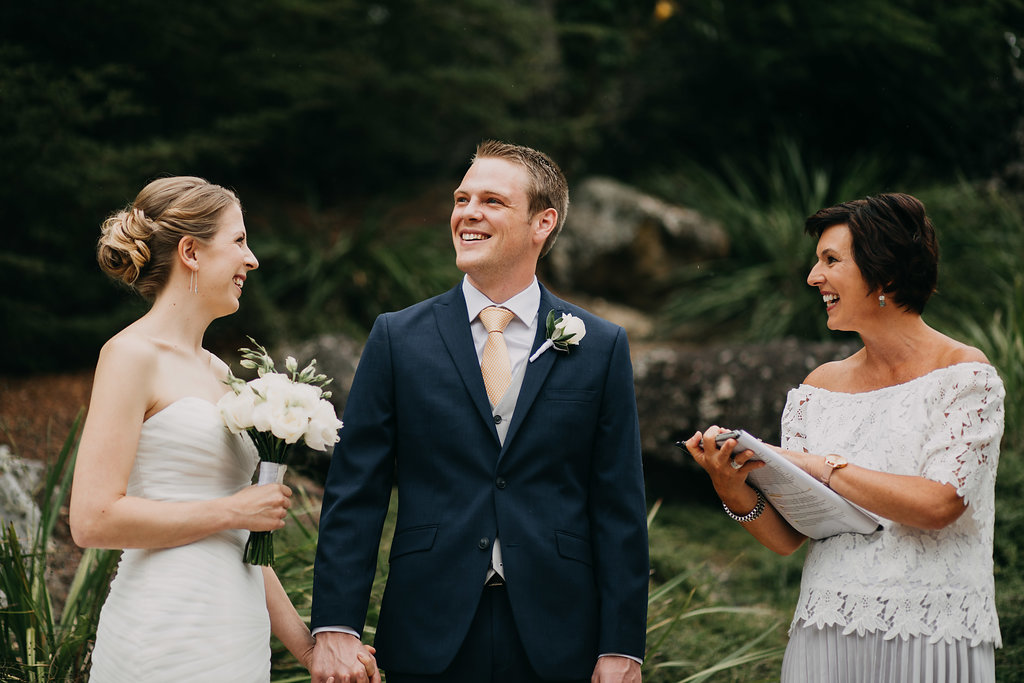Pieter and Lindsays wedding at Adele Island in the Abel Tasman National Park. Photo by The Woods Photography