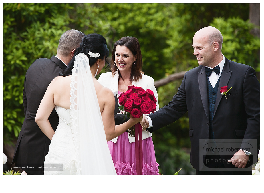 Diggory and Zerrins' wedding at Melrose House in Nelson.  Photo courtesy of Michael Robertson Photography