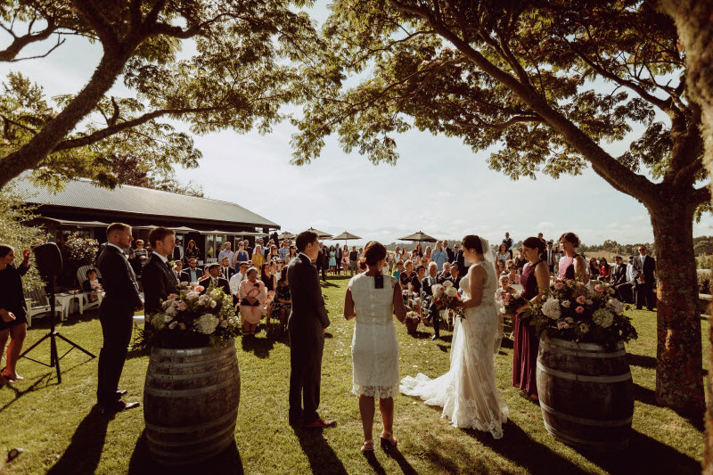 Gareth and Georgina's wedding at Mahana Estates, Nelson