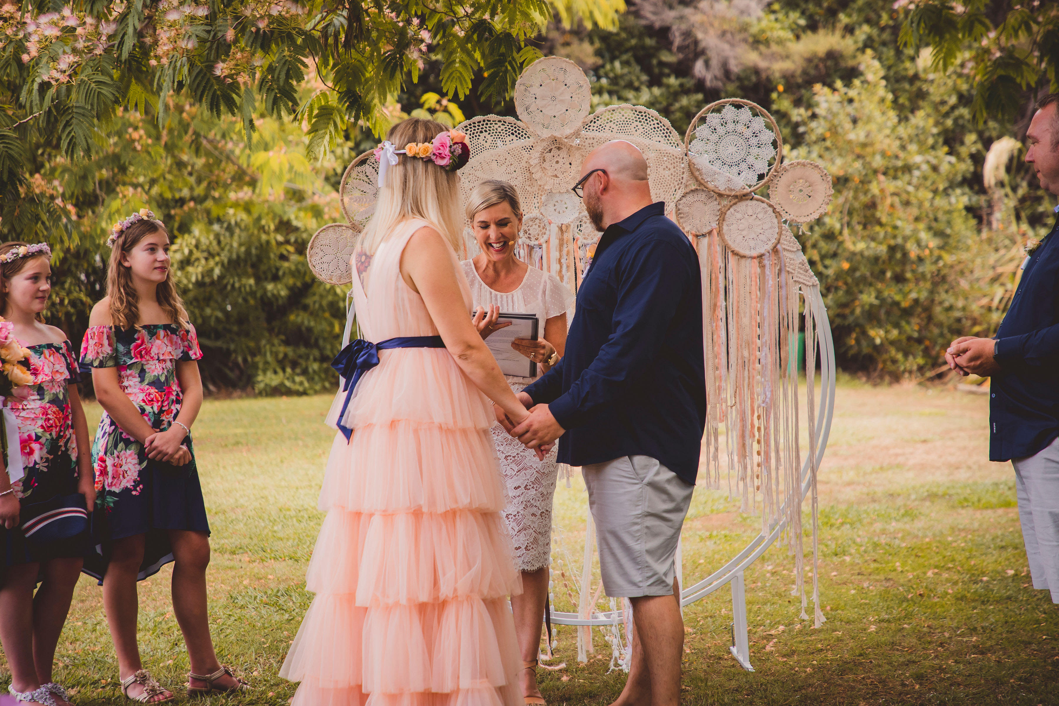 Shirley and Andrews wedding in Nelson - celebrant Rachael Schepers