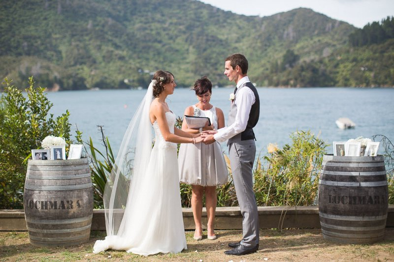 Jono and Mel's wedding at Lochmara Lodge, Marlborough Sounds